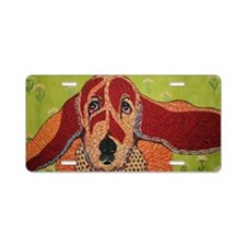 Sophie the Bassett hound Aluminum License Plate