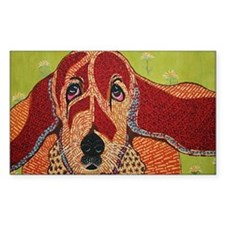 Sophie the Bassett hound Decal