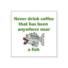 Fish Coffee Sticker