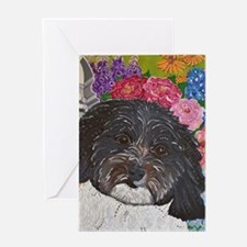 Rookie in the garden Greeting Card