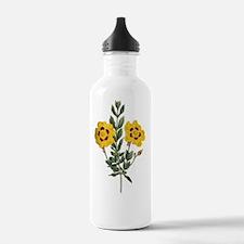 Vintage Yellow Cistus  Water Bottle