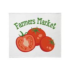 Farmers Market Throw Blanket