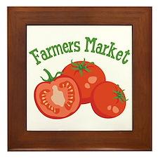 Farmers Market Framed Tile