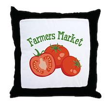 Farmers Market Throw Pillow