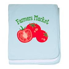 Farmers Market baby blanket