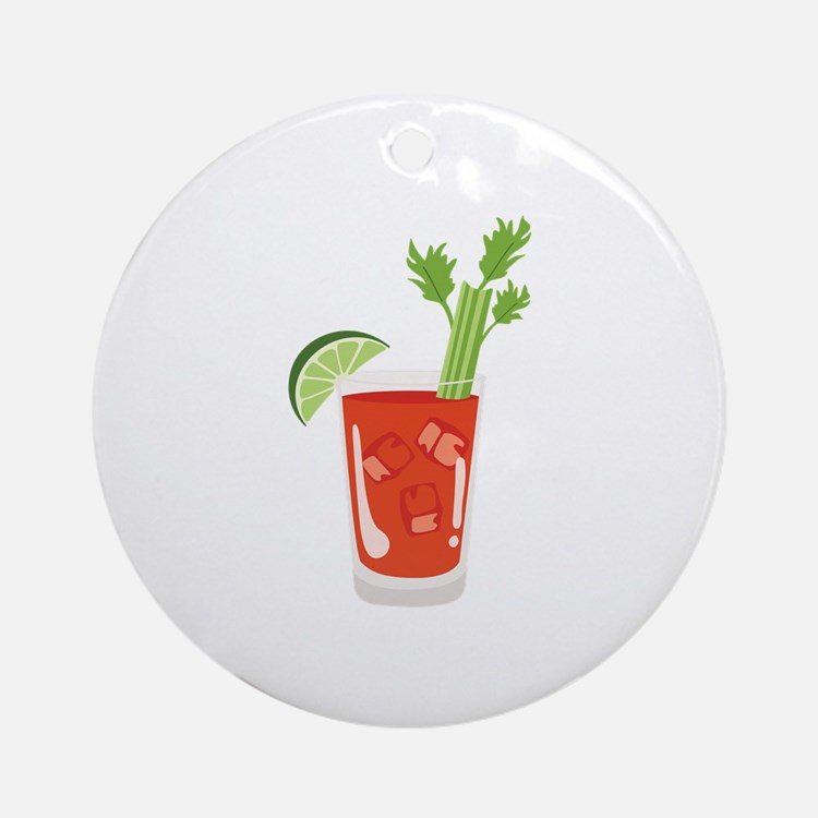Bloody Mary Drink Ornament (Round)