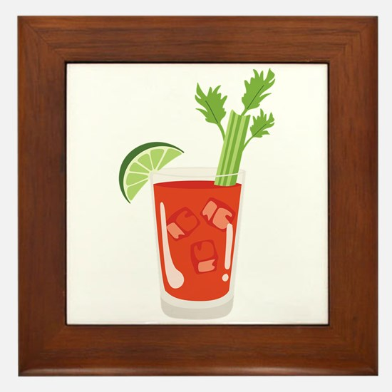 Bloody Mary Drink Framed Tile