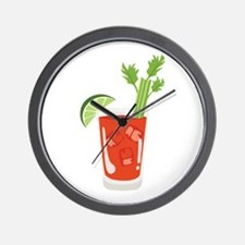 Bloody Mary Drink Wall Clock