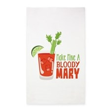 Make Mine A BLOODY MARY 3'x5' Area Rug