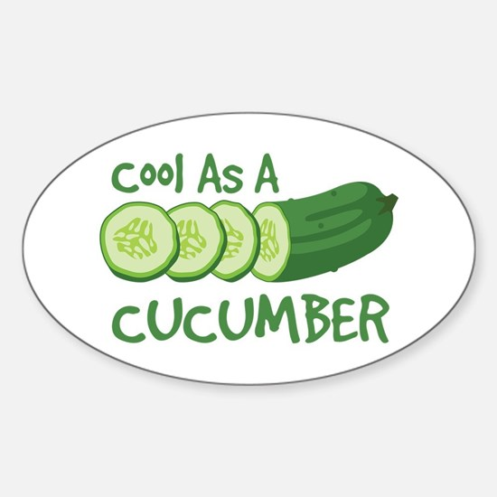 Cool As A CUCUMBER Decal