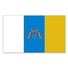 Canary Islands flag Rectangle Decal
