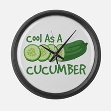 Cool As A CUCUMBER Large Wall Clock