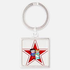 love is parody (star) tshirt.png Keychains