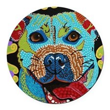 Pit Bull Round Car Magnet
