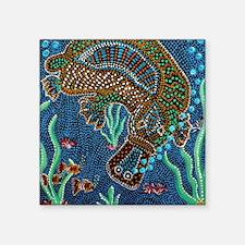 "platypus under the water Square Sticker 3"" x 3"""