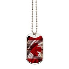 Canadian Flag Vertical Dog Tags