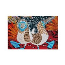 Blue Footed Booby Dance Rectangle Magnet