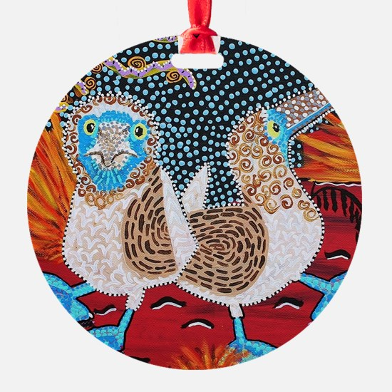 Blue Footed Booby Dance Ornament