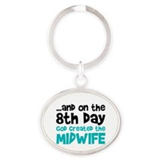 Midwife Creation Oval Keychain
