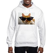 Cool Cat in Sunglasses Hoodie
