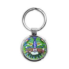 izzy the cat Round Keychain