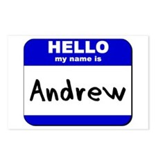 hello my name is andrew  Postcards (Package of 8)
