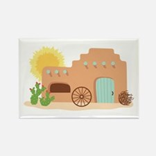 Adobe House Desert Magnets