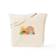 Adobe House Desert Tote Bag