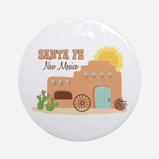 SANTA FE New mesico Ornament (Round)