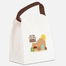 WELCOME TO OUR HUMBLE ADOBE Canvas Lunch Bag