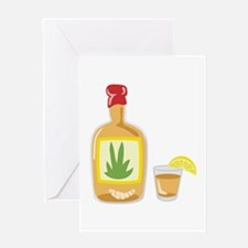 Tequila Bottle Shot Greeting Cards