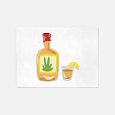 Tequila Bottle Shot 5'x7'Area Rug