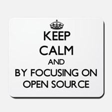 Keep calm by focusing on Open Source Mousepad