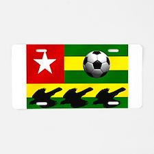 Togo Football Flag Aluminum License Plate