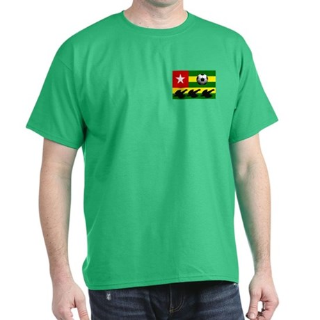 Togo Football Flag Dark T-Shirt