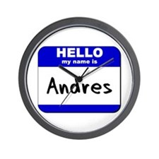 hello my name is andres  Wall Clock