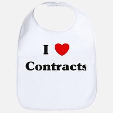 I Love Contracts Bib