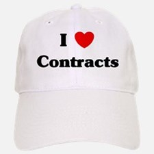 I Love Contracts Baseball Baseball Cap