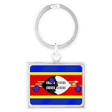 Flag of Swaziland Landscape Keychain
