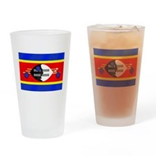 Flag of Swaziland Drinking Glass