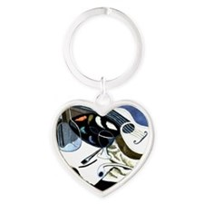 Gris - Painter's Table; Juan Gris a Heart Keychain