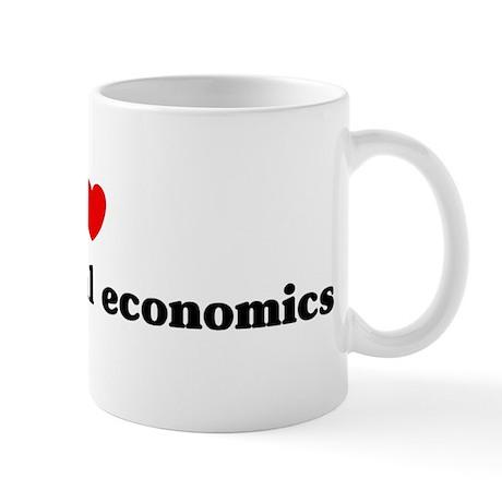 I Love Experimental economics Mug