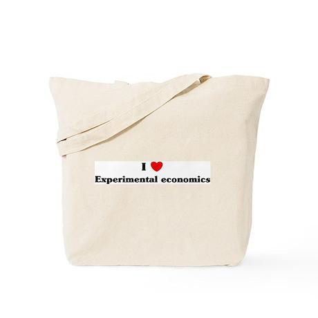 I Love Experimental economics Tote Bag