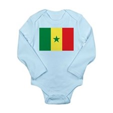 Flag of Senegal Long Sleeve Infant Bodysuit