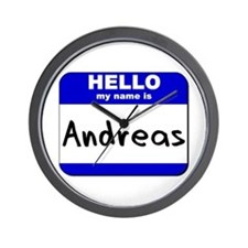 hello my name is andreas  Wall Clock