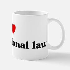 I Love Constitutional law Mug