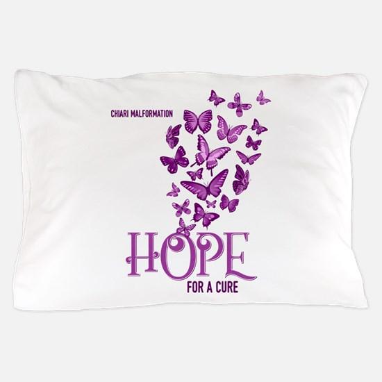 Chiari Hope For A Cure Butterflies Pillow Case