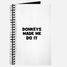 donkeys made me do it Journal