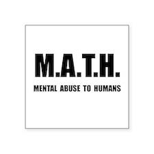 Math Abuse Sticker