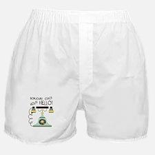 Bonjour! Ciao! Hola! Hello! Boxer Shorts